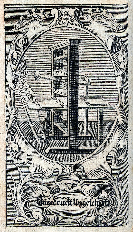 Ungedruckt, ungeschickt. (Aus: Arndt, J.: Des Hocherleuchteten Theologi, Herrn Johann Arndts, ... Säm[m]tliche Sechs Geistreiche Bücher Vom Wahren Christenthum. Basel, 1735. (UB Freiburg, N 8953,af)