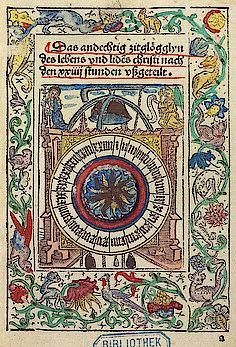 Aus: Berthold der Bruder: Das andechtig zitglögglyn ... Basel, 1492. (UB Freiburg, Ink. K 3484,ad)