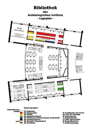Lageplan der Bibliothek der Klassischen Archäologie