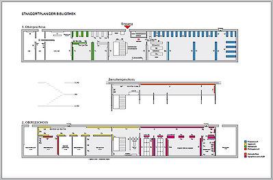 Standortplan der Bibliothek des Romanischen Seminars