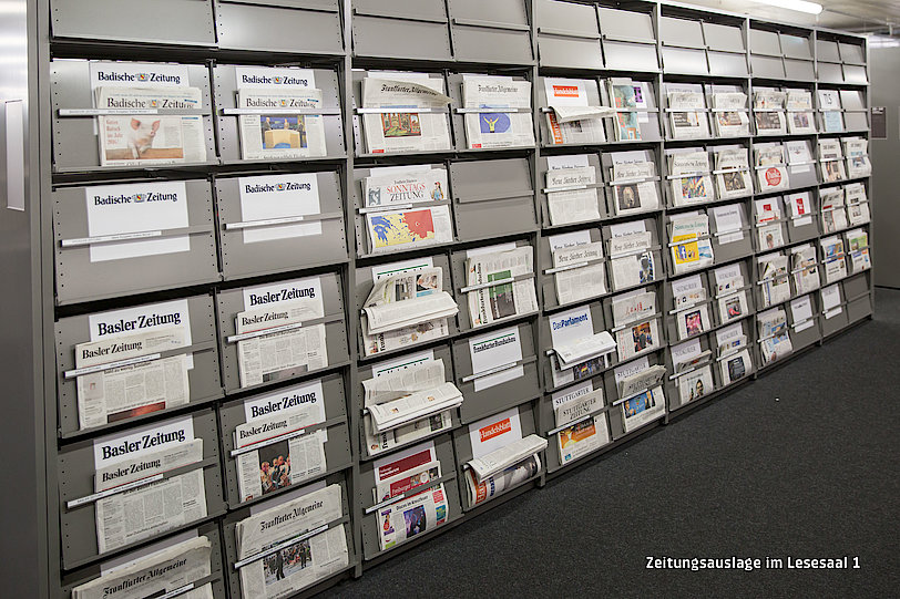 Newspapers in reading room 1