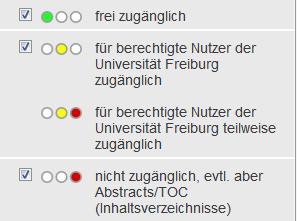 Verfügbarkeitsanzeige von E-Journals in der EZB