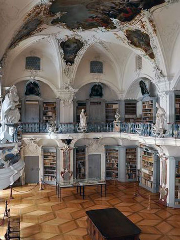 The ancient library of Abbey of Saint Peter in the Black Forest